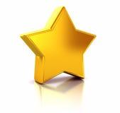 złota gwiazda Obrazy Stock