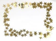 Złota gwiazdy granica fotografia royalty free