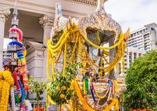 Złota Hinduska świątynia Fotografia Stock