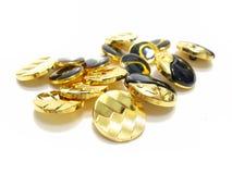 Złota i czerni guziki Obrazy Stock