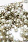 Złota i perły kolia zdjęcie stock