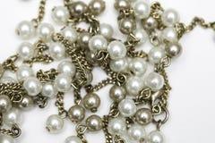 Złota i perły kolia zdjęcia royalty free