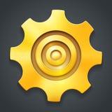 Złota ikona położenia Obraz Royalty Free