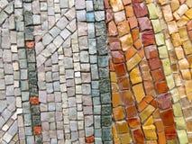 Złota, Jaskrawej i Kolorowej Kwadratowa mozaika, Piękna mozaika, Backg Zdjęcie Royalty Free