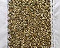 Złota kawa zdjęcie stock