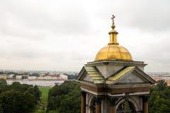 Złota kopuła Ortodoksalna katedra obraz royalty free