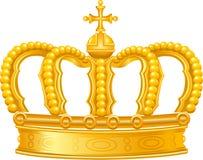 złota korona royalty ilustracja