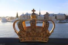 Złota korona W Sztokholm, Szwecja Scandinavia podróż zdjęcia royalty free