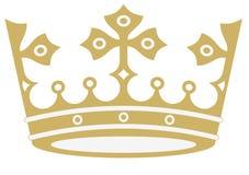 Złota korona w wektorach royalty ilustracja
