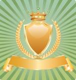 złota królewska banatka ilustracja wektor