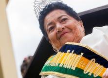 Złota królowa W Banos De Agua Santa obraz royalty free