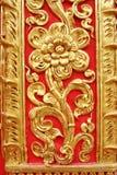 złota kwiat ściana Fotografia Royalty Free