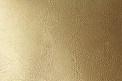 Złota lub brązu Naturalny Rzemienny tło Błyszczący żółty liść złocistej folii tekstury tło miejsce tekst obrazy royalty free