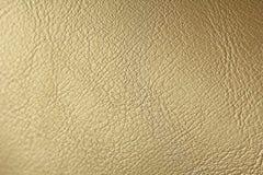 Złota lub brązu Naturalny Rzemienny tło Błyszczący żółty liść złocistej folii tekstury tło miejsce tekst obraz stock