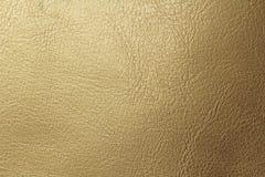 Złota lub brązu Naturalny Rzemienny tło Błyszczący żółty liść złocistej folii tekstury tło miejsce tekst fotografia royalty free