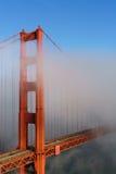 złota mgły bridżowa brama Fotografia Stock