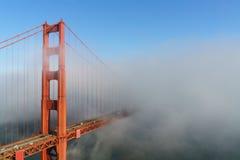 złota mgły bridżowa brama Zdjęcie Royalty Free