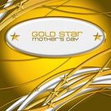 Złota Mother's Gwiazdowy dzień Obrazy Stock