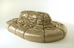 złota nowożytna kanapa Zdjęcie Royalty Free