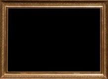 Złota obrazek rama obrazy royalty free
