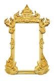 Złota obrazek rama zdjęcie royalty free