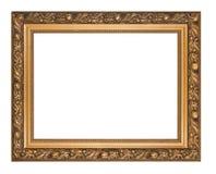 Złota obrazek rama odizolowywająca Zdjęcie Royalty Free