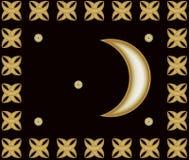 Złota półksiężyc i gwiazdy arabscy Zdjęcie Royalty Free
