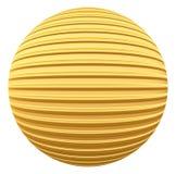 Złota pasiasta dekoraci piłka Fotografia Stock