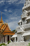 złota penh phnom stupa Zdjęcie Royalty Free