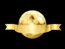 Złota piłka Fotografia Royalty Free