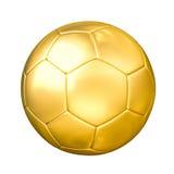 Złota piłki nożnej piłka odizolowywająca royalty ilustracja