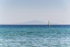 Złota plaża Paros, Grecja - Obrazy Royalty Free