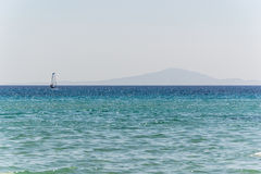 Złota plaża Paros, Grecja - Zdjęcie Stock