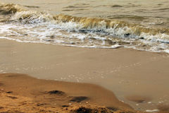 Złota plaża w melinie Haag Zdjęcia Royalty Free
