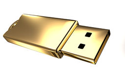 złota prowadnikowy błyskowy usb Fotografia Stock