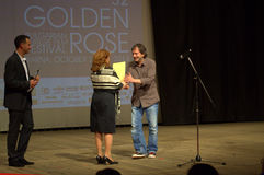 Złota róża festiwalu ceremonia wręczenia nagród zdjęcia royalty free