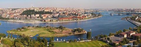 Złota róg panorama Zdjęcie Royalty Free