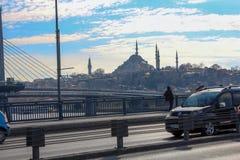 Złota róg stacja metru & Unkapani most Istanbuł obrazy stock