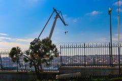 Złota róg stocznia Dźwigowy Beyoglu Istanbuł zdjęcie royalty free