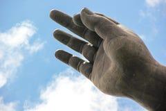Złota ręka Buddha Fotografia Stock