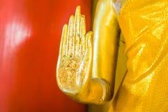 Złota ręka Buddha Obrazy Stock