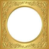 Złota rama Fotografia Stock