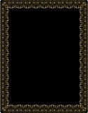 Złota rama z arabeskowym ornamentem na czerń Obraz Royalty Free