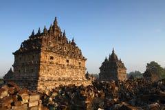 Złota ranku Plaosan świątynia Fotografia Stock