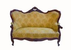 Złota rocznik kanapa zdjęcie stock