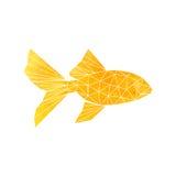 Złota Rybia ikona royalty ilustracja
