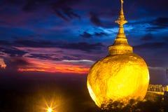 Złota skała Fotografia Stock