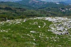 Złota spirala Na Monte Labbro Blisko Giurisdavica wierza obraz stock