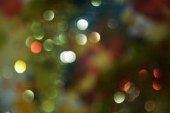 Złota srebna błękitna kurenda zaświeca w pastelowych kolorowych odcieniach, tło, bokeh zdjęcie royalty free