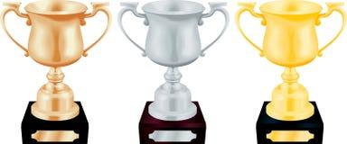 złota, srebra brązowy trofeum Obraz Royalty Free